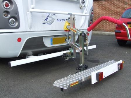 motorhome towbar with easy lift fitted