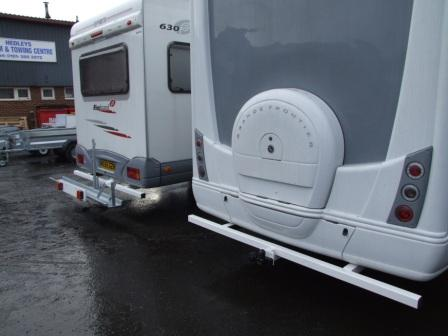 motorhome towbars finished in white